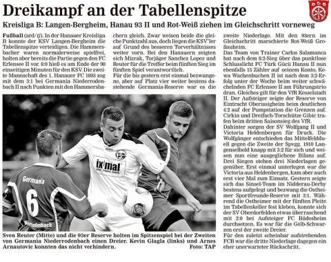 Hanauer Anzeiger vom 15.09.2014